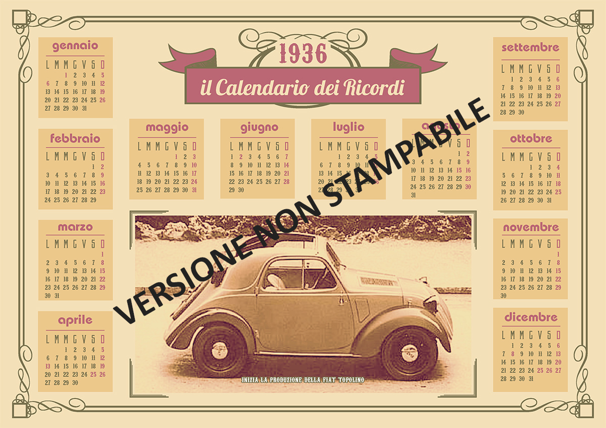 Calendario 1936.1936