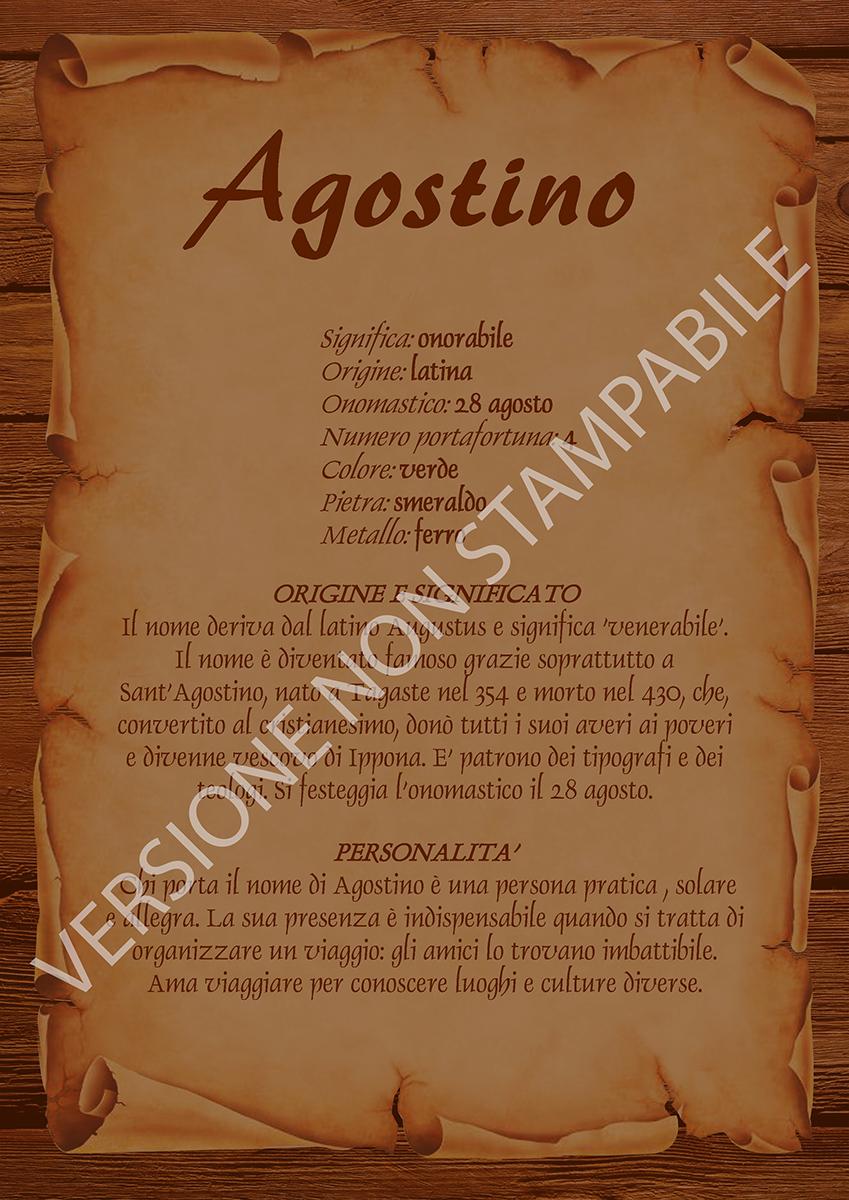 Agostino Nomemio Origine E Significato Dei Nomi