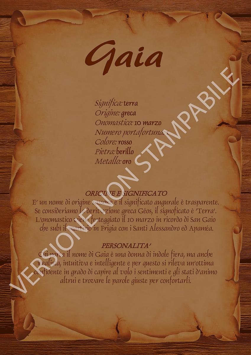 Gaia Nomemio Origine E Significato Dei Nomi